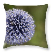 Bloomed Blue Throw Pillow