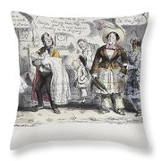 Bloomer Cartoon, C1851 Throw Pillow