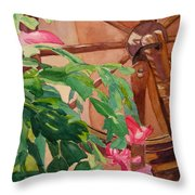 Bloomin' Cactus Throw Pillow