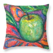 Blooming Apple Throw Pillow
