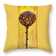 Blooming Artichoke - Cynara Cardunculus Throw Pillow