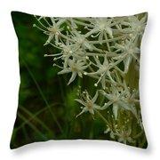 Blooming Bear Grass 3 Throw Pillow