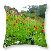 Blooming Beauties Throw Pillow