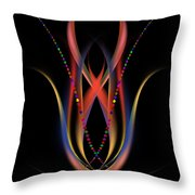 Blooming Digital Artwork Throw Pillow