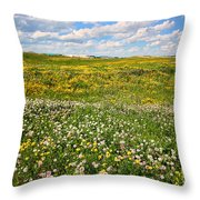 Blooming Fields Throw Pillow