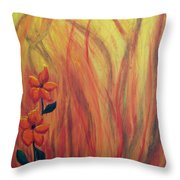 Blooming In Hell 1 Throw Pillow