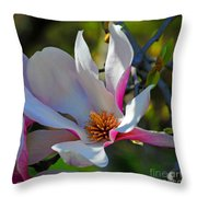 Blooming Light Throw Pillow
