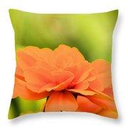 Blooming Marigold Throw Pillow