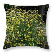 Blooming Rudbeckia Bush Throw Pillow