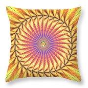 Blooming Seasons Kaleidoscope Throw Pillow by Derek Gedney
