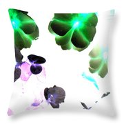 Blooming Space Throw Pillow