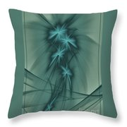Blooming Stars 2 Throw Pillow
