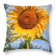 Blooming Sunflower V2 Throw Pillow by Adrian Evans
