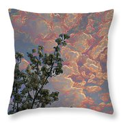 Blooming Tree And Sky Throw Pillow
