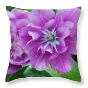 Blooming Tulips Throw Pillow