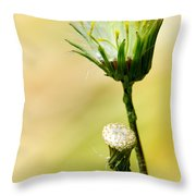 Blooming Weed Throw Pillow