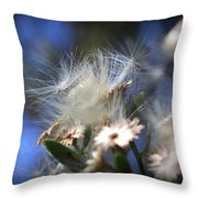 Blooming Wildflower Throw Pillow
