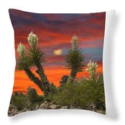 Full Blooming Yucca Throw Pillow