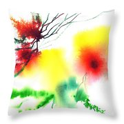 Blooms 3 Throw Pillow