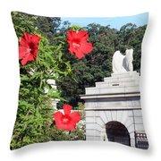 Blooms In Arlington Throw Pillow