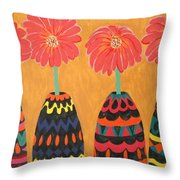 Blooms In Native Dress Throw Pillow