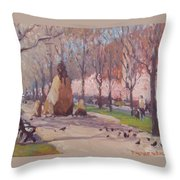 Blooms On Comm Ave Throw Pillow