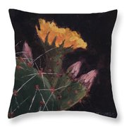 Blossom And Needles - Art By Bill Tomsa Throw Pillow
