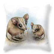 Blossom Buddies Throw Pillow