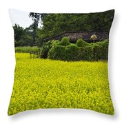 Blossom In Countryside Throw Pillow