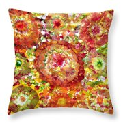 Blossom In Elysium  Throw Pillow