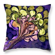 Blossom Of Spring    Purple Throw Pillow
