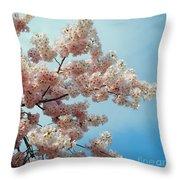 Blossom Sky Throw Pillow