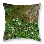 Blossom Windflowers Throw Pillow
