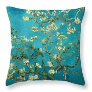 Blossoming Almond Tree Throw Pillow