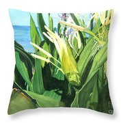 Blossoming Butterfly Ginger Throw Pillow
