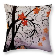 Blossoms Of The Orient Throw Pillow