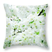 Blossoms Squared Throw Pillow