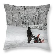 Blow By Blow Throw Pillow
