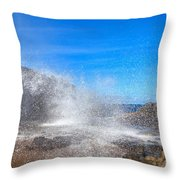 Blow Hole Blow Out Throw Pillow