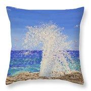 Blow Holes Grand Cayman Throw Pillow