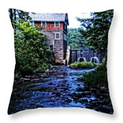 Blow Me Down Mill Throw Pillow