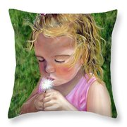 Blow On It Throw Pillow