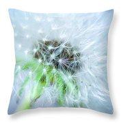 Blowball  - Blue Throw Pillow