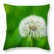 Blowball Of Dandelion - Featured 3 Throw Pillow