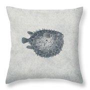 Blowfish - Nautical Design Throw Pillow