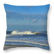 Blowin' In The Wind Seaside Heights New Jersey Throw Pillow