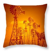 Blowin In The Wind V2 Throw Pillow