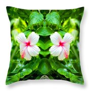 Blowing In The Breeze Mirror Image Throw Pillow