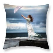 Blowing In The Wind Throw Pillow by Joana Kruse