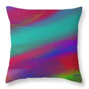 Blowing In The Wind Panorama Throw Pillow